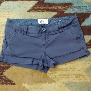 SO navy khaki shorts